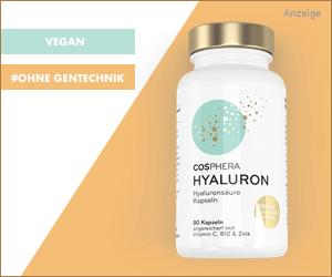 Cosphera Hyaluron mit Biotin, B12 und Zink
